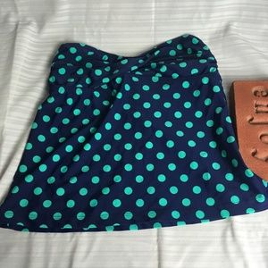 Mossimo Polka Dotted Strapless Swim Top